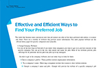 Effective and Efficient Ways to Find Your Preferred Job